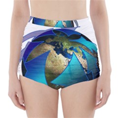 Migration Of The Peoples Escape High Waisted Bikini Bottoms