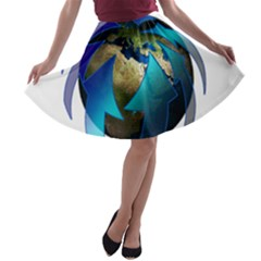 Migration Of The Peoples Escape A Line Skater Skirt
