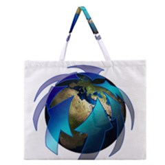 Migration Of The Peoples Escape Zipper Large Tote Bag