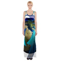 Migration Of The Peoples Escape Maxi Thigh Split Dress