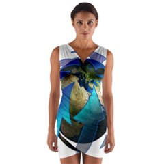 Migration Of The Peoples Escape Wrap Front Bodycon Dress