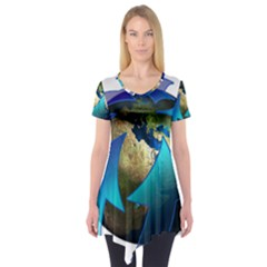 Migration Of The Peoples Escape Short Sleeve Tunic