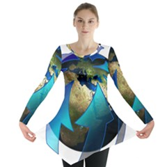 Migration Of The Peoples Escape Long Sleeve Tunic