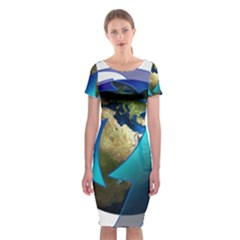 Migration Of The Peoples Escape Classic Short Sleeve Midi Dress