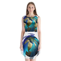 Migration Of The Peoples Escape Sleeveless Chiffon Dress