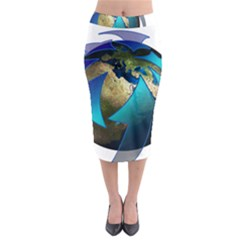 Migration Of The Peoples Escape Midi Pencil Skirt