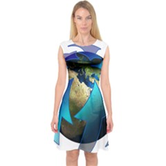 Migration Of The Peoples Escape Capsleeve Midi Dress
