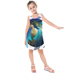 Migration Of The Peoples Escape Kids  Sleeveless Dress