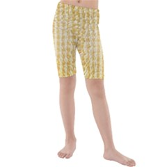 Pattern Abstract Background Kids  Mid Length Swim Shorts
