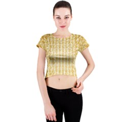 Pattern Abstract Background Crew Neck Crop Top