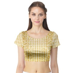 Pattern Abstract Background Short Sleeve Crop Top (tight Fit)