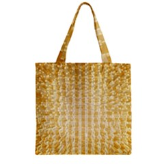 Pattern Abstract Background Zipper Grocery Tote Bag