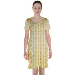 Pattern Abstract Background Short Sleeve Nightdress