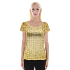 Pattern Abstract Background Women s Cap Sleeve Top
