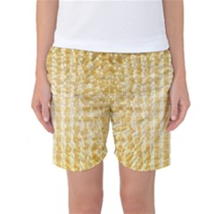 Pattern Abstract Background Women s Basketball Shorts