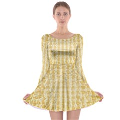 Pattern Abstract Background Long Sleeve Skater Dress