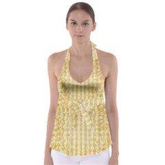 Pattern Abstract Background Babydoll Tankini Top