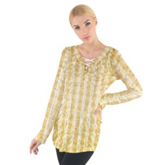 Pattern Abstract Background Women s Tie Up Tee