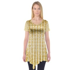 Pattern Abstract Background Short Sleeve Tunic