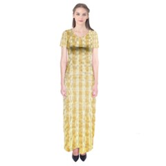 Pattern Abstract Background Short Sleeve Maxi Dress