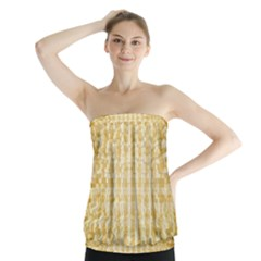 Pattern Abstract Background Strapless Top