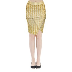 Pattern Abstract Background Midi Wrap Pencil Skirt