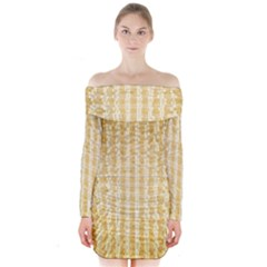 Pattern Abstract Background Long Sleeve Off Shoulder Dress