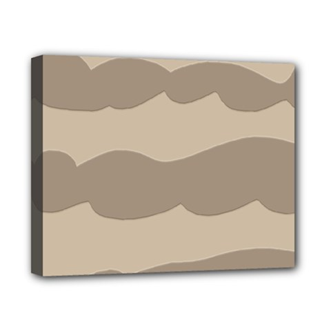 Pattern Wave Beige Brown Canvas 10  X 8