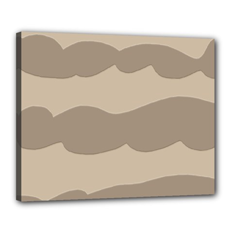 Pattern Wave Beige Brown Canvas 20  X 16