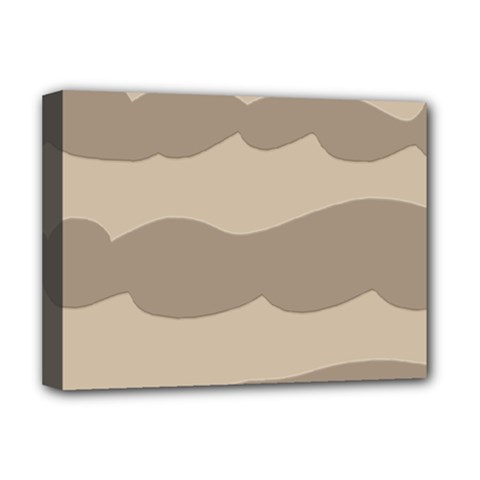 Pattern Wave Beige Brown Deluxe Canvas 16  X 12