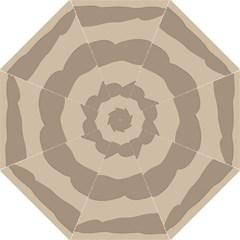 Pattern Wave Beige Brown Hook Handle Umbrellas (medium)
