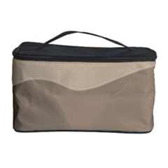 Pattern Wave Beige Brown Cosmetic Storage Case