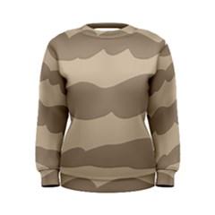 Pattern Wave Beige Brown Women s Sweatshirt