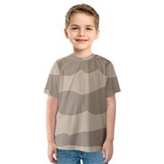 Pattern Wave Beige Brown Kids  Sport Mesh Tee