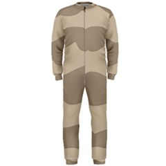 Pattern Wave Beige Brown Onepiece Jumpsuit (men)