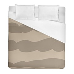 Pattern Wave Beige Brown Duvet Cover (full/ Double Size)