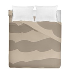 Pattern Wave Beige Brown Duvet Cover Double Side (full/ Double Size)