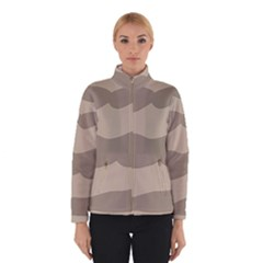 Pattern Wave Beige Brown Winterwear