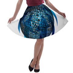 Photo Album Photo Montage About A-line Skater Skirt