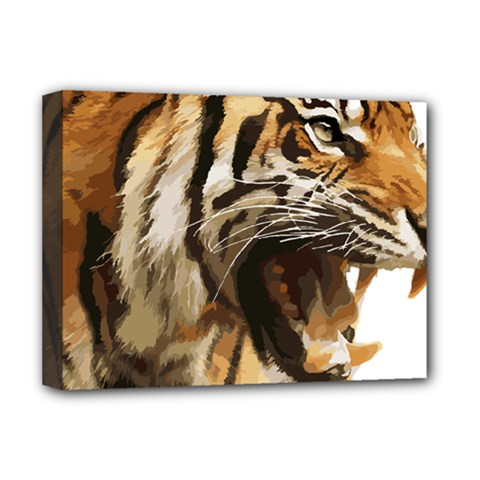 Royal Tiger National Park Deluxe Canvas 16  X 12