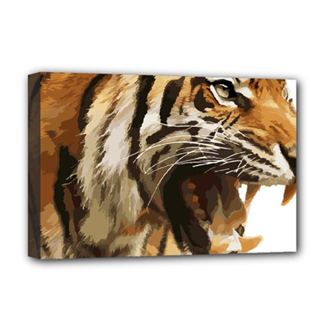 Royal Tiger National Park Deluxe Canvas 18  X 12