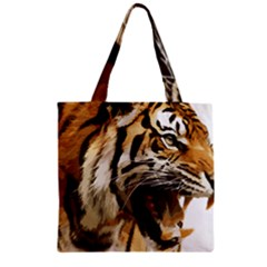 Royal Tiger National Park Zipper Grocery Tote Bag