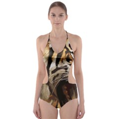 Royal Tiger National Park Cut Out One Piece Swimsuit