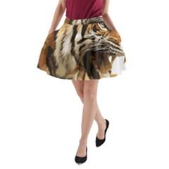 Royal Tiger National Park A-Line Pocket Skirt