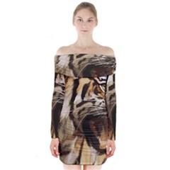 Royal Tiger National Park Long Sleeve Off Shoulder Dress