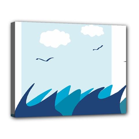 Sea Canvas 14  X 11