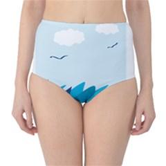 Sea High-Waist Bikini Bottoms