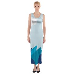 Sea Fitted Maxi Dress