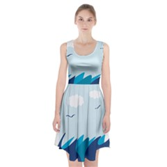 Sea Racerback Midi Dress