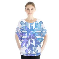 Snowflake Blue Snow Snowfall Blouse